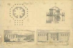 Fischer von Erlach, J. B.. The ground plan of the Temple of Jupiter, Split, Croatia (before 1712). NSK Digital Collections.