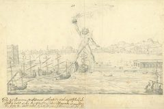 Fischer von Erlach, J. B.. Colossus of Rhodes, Greece (before 1712). NSK Digital Collections.