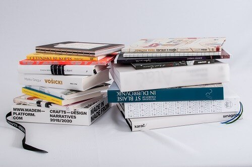 """Best designed Croatian books published in 2020 selected for """"Best Book Design from all over the World"""" competition and """"Book Art International"""" exhibition. Photo by: Darko Čižmek."""