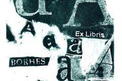 "Ex libris Nevenke Arbanas iz grafičke mapa ""Aleph: Ex Libris: Hommage á Jorge Luis Borges 1899.-1986.""."