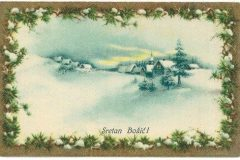 Old Christmas card from the Print Collection of the National and University Library in Zagreb.