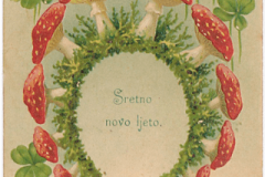 Old New Year card from the Print Collection of the National and University Library in Zagreb.