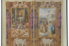 """Book of Hours of Cardinal Alessandro Farnese"", or ""Farnese Hours"" (Rome, completed in 1546). A miniature by Julije Klović (Iulius Clovius, Giulio Clovio), a Croatian Renaissance painter often referred to as ""the Michelangelo of the miniature"". The Morgan Library and Museum, New York."