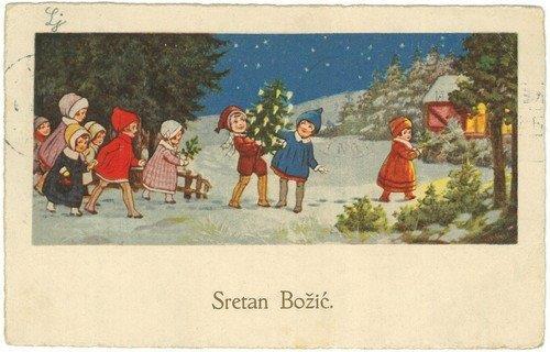 hrvatske božićne čestitke Božićne čestitke iz fonda Grafičke zbirke NSK   Nacionalna i  hrvatske božićne čestitke