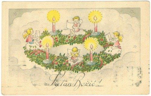 stare božićne čestitke Božićne čestitke iz fonda Grafičke zbirke NSK   Nacionalna i  stare božićne čestitke
