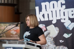 Director General of the National and University Library in Zagreb Tatijana Petrić at the opening programme of Croatian Book Night 2018.