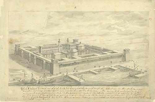 Fischer von Erlach, J. B.. Dioklecijanova palača u Splitu. Iz Digitalne zbirke NSK.