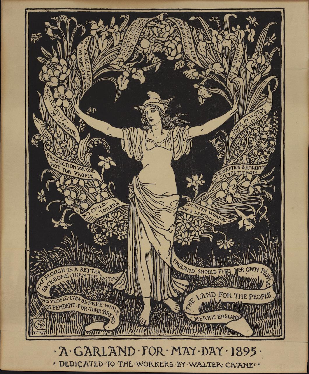 Crane, W. A Garland for May Day 1895, 1895. Izvor:  http://tinyurl.com/nzntjyx