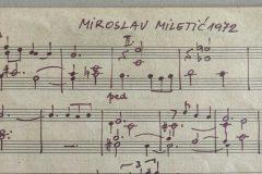 Detalj iz darovane ostavštine autografa Miroslava Miletića.