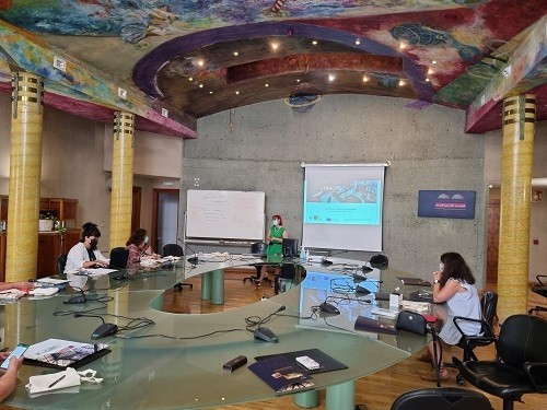 """Library Adviser for School Libraries and Head of the TRACE project Frida Bišćan at the final international meeting for Erasmus+ project TRACE (""""Traditional children's stories for a common future""""). Euro-Arab Foundation for Higher Studies (Granada, Spain), 15 & 16 July 2021."""
