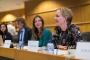 Marietje Schaake, zastupnica u Europskome parlamentu i predstavnica Parlamenta u sklopu rasprave o nužnim izmjenama zakona o autorskim pravima održane u organizaciji udruženja COMMUNIA. Autor fotografije: Sebastiaan ter Burg.