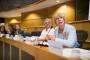 Maria Rehbinder, članica Radne skupine za autorska prava Saveza europskih znanstvenih knjižnica (LIBER), na raspravi o nužnim izmjenama zakona o autorskim pravima održanoj u Europskome parlamentu u organizaciji udruženja COMMUNIA. Autor fotografije: Sebastiaan ter Burg.
