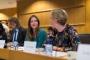 Lisette Kalshoven, predstavnica udruženja COMMUNIA, na raspravi o nužnim izmjenama zakona o autorskim pravima održanoj u Europskome parlamentu 21. lipnja 2017. godine. Autor fotografije: Sebastiaan ter Burg.