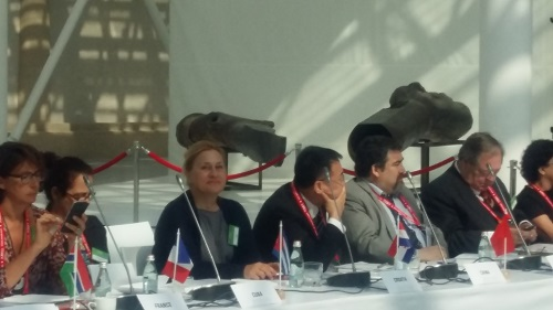 Glavna ravnateljica Nacionalne i sveučilišne knjižnice u Zagrebu dr. sc. Tatijana Petrić na godišnjem sastanku CDNL-a.