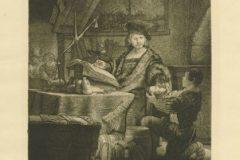 """Jan Uytenbogaert"". Rembrandt Harmenszoon van Rijn. Berlin: Amsler & Ruthardt, 1920. Faksimil: bakropis, suha igla; otisak 244 x 202 mm, list 386 x 274 mm. Dostupno na Digitalnim zbirkama NSK."