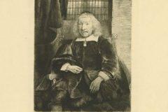 """Tomas Harring - Stari Harring"". Rembrandt Harmenszoon van Rijn. Berlin: Amsler & Ruthardt, 1920. Faksimil: suha igla, burin; otisak 191 x 143 mm, list 384 x 278mm. Dostupno na Digitalnim zbirkama NSK."