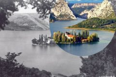 """Greetings from the Krka"", the latest mobile application of the National and University Library in Zagreb, merges the past and present of the fascinating natural and cultural heritage of the Croatian river Krka, by juxtaposing the images of it as captured on 19th-century postcards and today's photographs."