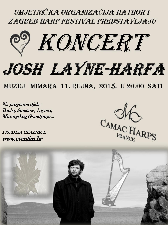 Plakat za Josh Layneov koncert u Mimari