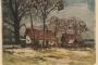 Salaš : Vukovar. 1937. bakropis u bojama ; otisak 138 x 174 mm, list 155 x 184 mm.