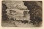 Vukovar : Na Dunavu. 1930.-1940. bakropis ; otisak 128 x 184 mm, list 212 x 296 mm.