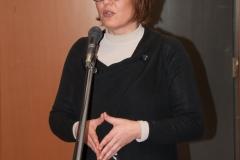 Predsjednica Hrvatskog knjižničarskog društva dr. sc. Dunja Holcer na radionici o ulozi knjižnica u provođenju UN-ove razvojne strategije Agenda 2030. održanoj u NSK 17. i 18. travnja 2018. godine.