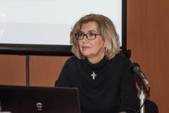 Načelnica Sektora za knjižničnu i muzejsku djelatnost Ministarstva kulture RH Jelena Glavić Perčin na radionici o ulozi knjižnica u provođenju UN-ove razvojne strategije Agenda 2030. održanoj u NSK 17. i 18. travnja 2018. godine.