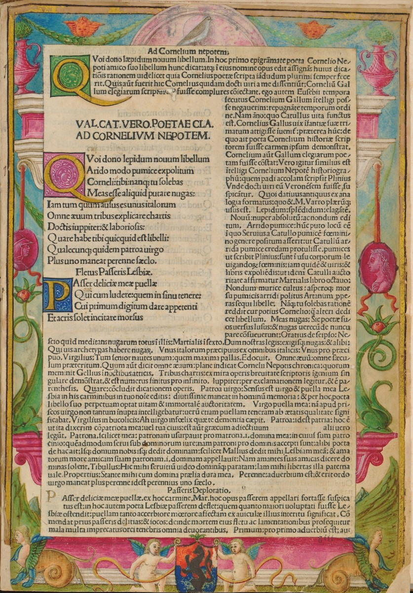 "Incunabulum ""Carmina cum comm. Antonii Parthenii"" (Venice, 1487/1488) by Gaius Valerius Catullus. NSK Manuscripts and Old Books Collection."