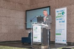"Convener of IFLA's Environment, Sustainability and Libraries Special Interest Group Harri Sahavirta at the opening of the world's first international conference on green libraries ""Let's Go Green!"". National and University Library in Zagreb, 8 – 10 November 2018."