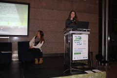 "Biljana Davidovski and Nina Radenković (Užice Public Library, Serbia) at the 1st International Conference on Green Libraries ""Let's Go Green!"". National and University Library in Zagreb, 8 – 10 November 2018."