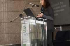 "Lee Boulie (Country Music Hall of Fame and Museum, USA) at the 1st International Conference on Green Libraries ""Let's Go Green!"". National and University Library in Zagreb, 8 – 10 November 2018."