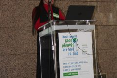"Elvira A. Zingapan (Prince Mohammad Bin Fahd University, Saudi Arabia) at the 1st International Conference on Green Libraries ""Let's Go Green!"". National and University Library in Zagreb, 8 – 10 November 2018."
