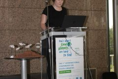 "Lana Zrnić (Library of the Zagreb Faculty of Humanities and Social Sciences, Croatia) at the 1st International Conference on Green Libraries ""Let's Go Green!"". National and University Library in Zagreb, 8 – 10 November 2018."