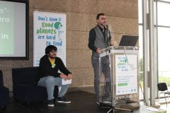 "Kristian Benić and Niko Cvjetković (Rijeka City Library, Croatian) at the 1st International Conference on Green Libraries ""Let's Go Green!"". National and University Library in Zagreb, 8 – 10 November 2018."