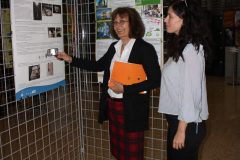 "Head of the Preservation and Storage Department at the National and University Library in Zagreb Dragica Krstić at the poster session of the 1st International Conference on Green Libraries ""Let's Go Green!"". National and University Library in Zagreb, 8 – 10 November 2018."
