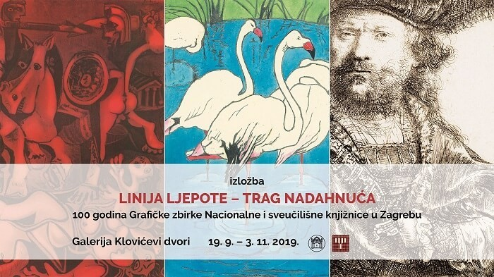 """Line of Beauty – Trace of Inspiration"". NSK exhibition marking the centenary of the Library's Print Collection. Klovićevi dvori Gallery, 19 September – 3 November 2019."