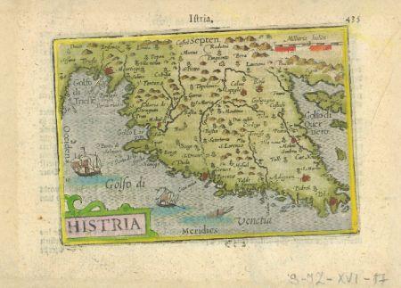 Petrus Bertius,  Histria, c. 1600