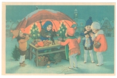 A Christmas card from the Print Collection of the National and University Library in Zagreb.
