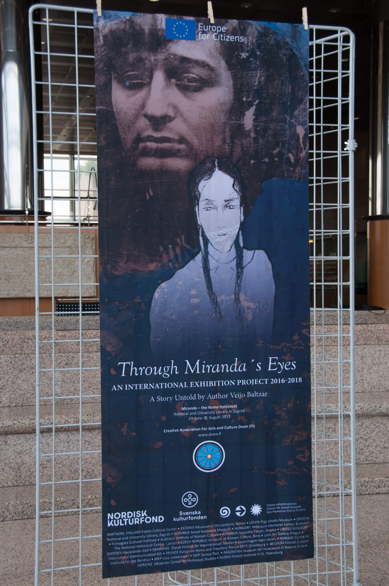 "NSK hosting an international touring exhibition ""Miranda – the Roma Holocaust. Who's afraid of the White Man?""."