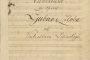 The overture to Love and Malice; autograph by Vatroslav Lisinski, 1845