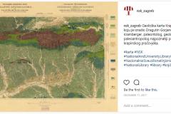 Objava geološke karte Krapine i Zlatara koju je izradio paleontolog, geolog i paleoantropolog Dragutin Gorjanović-Kramberger, najpoznatiji po otkriću krapinskoga pračovjeka, na Instagramu.
