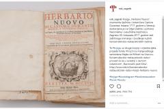 """Objava o restauraciji knjige """"Herbario Nuovo"""", znamenita liječnika i botaničara Castora Durantea na Instagramu."""
