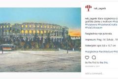 Objava stare razglednice iz fonda grafičke zbirke s motivom Pule na Instagramu.