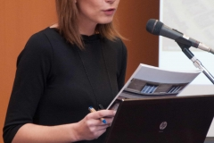 "Maja Priselac na predstavljanju prve mobilne aplikacije Nacionalne i sveučilišne knjižnice u Zagrebu ""Pozdrav iz Zagreba"""