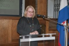 Member of the 2019 NSK Award Committee Alisa Martek at the celebration of the National and University Library in Zagreb Day 2020. Croatian State Archives, 21 February 2020.