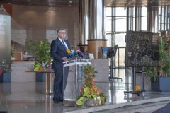 The Prime Minister of the Government of the Republic of Croatia Andrej Plenković at the celebration of the National and University Library in Zagreb Day 2021.