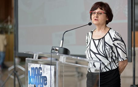 Dubravka Đurić Nemec, Head of Directorate for Literature, Publishing and Libraries at the Croatian Ministry of Culture, at the opening of Book Night 2016. Photograph: Nina Đurđević.