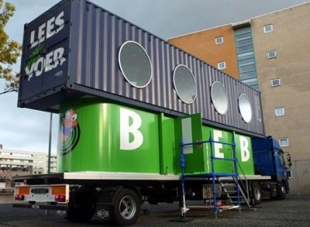 """Pokretna knjižnica """"BiebBus"""" iz Nizozemske."""