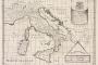 Nova karta današnje Italije, zajedno s pripadajućim otocima Sicilijom, Sardinijom i Korzikom pokazujući svoje glavne regije, gradove, rijeke i planine.  Izvor: http://tinyurl.com/npe2bpd