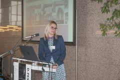 Anuška Deranja Crnokić (Croatian Ministry of Culture, Directorate for the Protection of Cultural Heritage, Documentation and Cultural Property Register Office) at the Ninth Festival of Croatian Digitisation Projects. National and University Library in Zagreb, 9 & 10 May 2019.