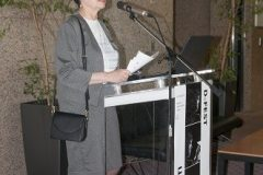 International Cooperation Adviser at the National and University Library in Zagreb Jasenka Zajec at the opening of the Ninth Festival of Croatian Digitisation Projects. National and University Library in Zagreb, 9 & 10 May 2019.